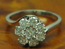 18kt 585 Weißgold Ring mit 1,11ct Brillant Besatz / Diamant / 4,8g / RG 53