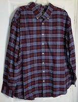 New The Foundry Men Plus Size 2XL Big & Tall Long Sleeve Easy Care Plaid Shirt