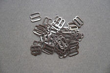 Metal Bra Strap Adjuster/Slide/Sliders. Vintage 100 pieces. 11mms.