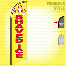 Shaved Ice - Windless Swooper Flag 2x11.5 ft Feather Banner Sign yb