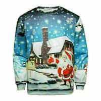 Hot Unisex UGLY CHRISTMAS SWEATER Vacation Santa Elf Funny Womens Men Sweatshirt