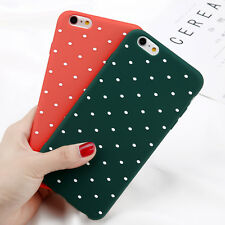 For iPhone XR XS Max 6s 7 8 Plus Shockproof Polka Dot TPU Thin Rubber Case Cover