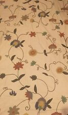 New Gorgeous Embroidered Floral 49 X 84 Inch Pottery Barn Curtain Panel