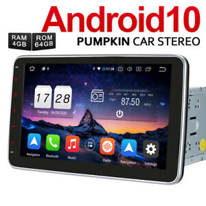 Pumpkin 10.1 Zoll Android 10.0 Autoradio 2 DIN GPS NAVI DAB USB 4GB 64GB BT WiFi