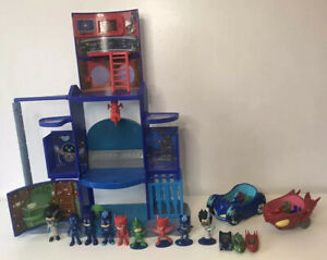 PJ Masks Mission Control HQ Playset with 2x Vehicles 9x Figures 3x Die-cast Cars