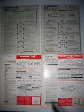 PEUGEOT 204 - Lot de 4 fiches techniques Revue Technique Automobile