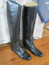 AMAZONAS CAVALIER Womens Tall ENGLISH FIELD Riding Boots Black Leather SIZE 7 S