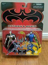 Batman & Robin - Silver vs Bane ( Brain vs Brawn ) Action Figure Set Kenner 1997