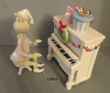 Lenox Grinch Dr Seuss Grinch's Christmas Melody 2 Piece Set Piano - New Box