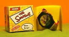 Simpsons - 2002 Talking Watch - Burger King Collectible Burger Curl Boxed