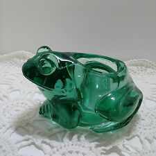 Indiana Glass Spanish Green Frog Votive Holder #07138 Made In USA.