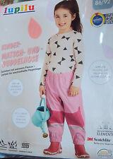 gefütterte Mädchen Matschhose Buddelhose  Gr. 86/92 Fleece rosa