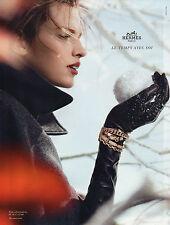 Publicité Advertising 2012 HERMES collection bague bracelet
