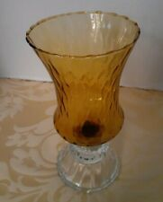 1 Amber Ribbed Votive Peg Candle Holder With Rubber Grommet( base not included)