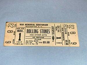 THE ROLLING STONES 1965 UNUSED TICKET Keith Richards Mick Jagger Brian Jones w