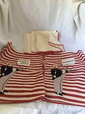 Lot of Vintage Bar Butler Towels Rye Scotch Bourbon 6 Towels Appliqué