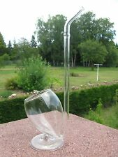 PIPE à COGNAC en Verre sur pied 20,5 cm haut