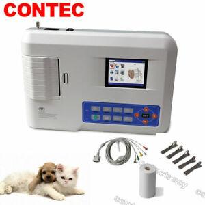 Vet/Animal/Cat/Dog ECG/EKG machine Electrocardiogram Software Printer 3 channels