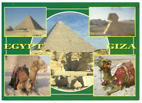 Giza: The Pyramids and The Sphinx, Egypt Rare Multiview Postcard Posted