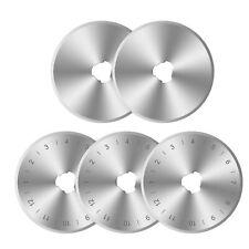 5PCS 45mm Rotary Cutter Blades Kit For Fiskars Olfa Dafa Spare Replacement