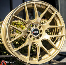 XXR 530 17X8.25 Rims 5x100/114.3 +25 Gold Wheels Fits Accord Rsx Tsx Tiburon