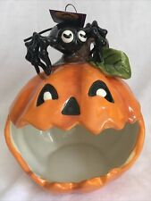 BLUE SKY CLAYWORKS HALLOWEEN PUMPKIN SPIDER CANDY Candle Soap DISH Cute Decor