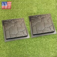 2 pcs Plastic MOLDS for Concrete Garden Stepping Stone Path Patio MOULDS CEMENT