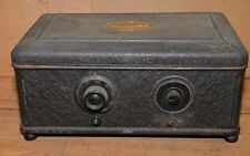 Antique 1920 Atwater Kent model 42 vacuum tube bread box radio collectible