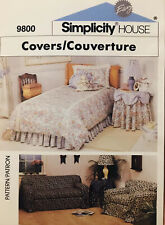 New Simplicity HOUSE 9800 Covers, sofa, chair, table Decor Sewing Instructions