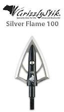 GRIZZLYSTIK-Silver Flame®- 100 grain Broadheads, 3pk