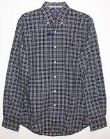 Polo Ralph Lauren Mens Size M Black Plaid Slim Fit Button-Front Shirt NWT Size M