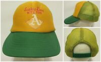 Old Vintage Lucky Day With The A's Oakland Athletics Baseball Snapback Hat Cap