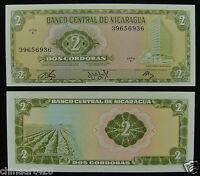 Nicaragua 2 Cordoba BANKNOTE 1972 UNC