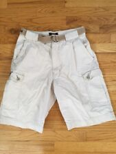 Abercrombie & Fitch Beige Cargo Shorts 31 A&F Belted  Cotton/nylon Mint!