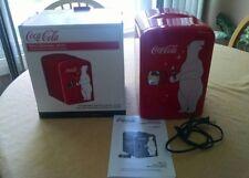 Coca-Cola Mini Fridge Cooler Retro Personal Fridge Koolatron Holds 6 Cans EUC