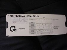Stitch/Row Calculator - Tells you how many sts & Rows for your project