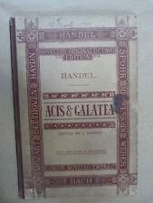 VOCAL SCORE Handel ACIS & Galatea, Ed. barnby, NOVELLO
