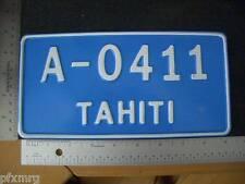 TAHITI FRENCH POLYNESIA LICENSE PLATE Novelty car hinano t shirt tank top Hawaii