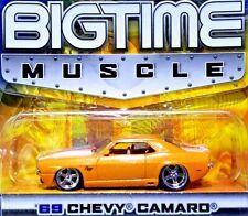 JADA TOYS BIGTIME MUSCLE 1969 Chevy Camaro SS Orange & White Stripe 1/64 Scale