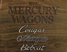 Mercury Station Wagons 1977 Canadian Market Sales Brochure Bobcat Cougar Marquis