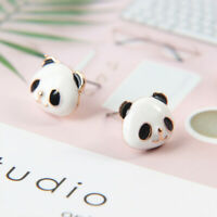 Exquisite Panda Animal Shape Stud Earrings Ladies Fashion Jewelry Women Gift