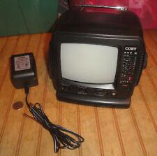 "Coby CX-TV1 Portable 5"" VHF/UHF Black & White (B/W) Television TV w/ AM/FM Radio"