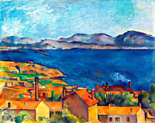 The Bay of Marseilles seen from L'Estaque A1+ by Paul Cezanne Canvas Print