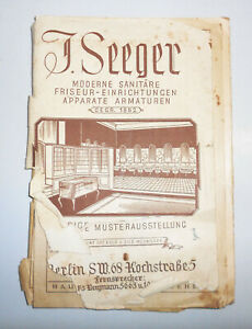 Vieux Coiffure Catalogue Berlin 1933 ! (H6