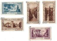 Lot of (5) La Belle France Poster Stamps/ Cinderellas - Bayonne, La Conquet...