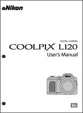 Nikon CoolPix L120 Digital Camera User Guide Instruction  Manual