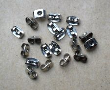 """""""NEW"""" FREE P&P 20 (10 pairs) GUN METAL (SILVER) BUTTERFLY EARRING BACKS STOPPER"""