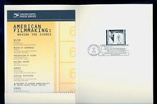 USA #3772c 2003 37c Film Making Costume Design Stamp First Day Ceremony Program