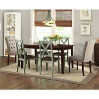 Rustic Design Dining Room Farmhouse Kitchen Chair Set of 2 Solid Wood Seats