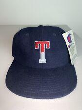 Men's Vintage Throwback Trine University Champion Navy Blue Adjustable Hat NWT